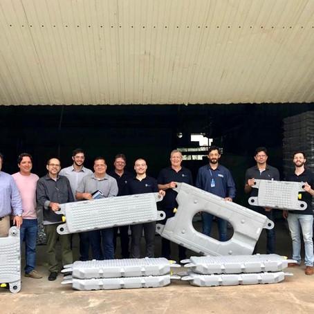 AEDAS faz visita técnica a fornecedores de flutuadores para construção da Usina Solar Fotovoltaica