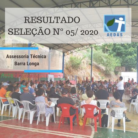 RESULTADO - Processo Seletivo de contratação - EDITAL DE SELEÇÃO n° 05/2020