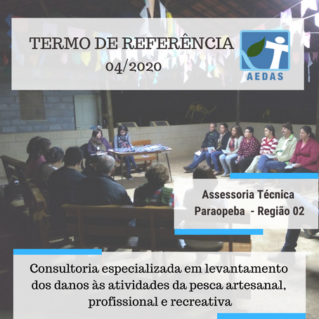 TERMO DE REFERÊNCIA 04/2020 DA ASSESSORIA TÉCNICA INDEPENDENTE BACIA DO PARAOPEBA – REGIÃO 2