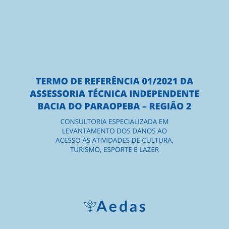TERMO DE REFERÊNCIA 01/2021 DA ASSESSORIA TÉCNICA INDEPENDENTE BACIA DO PARAOPEBA – REGIÃO 2