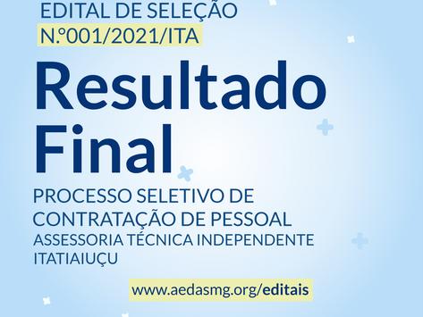 RESULTADO FINAL - EDITAL Nº 001/2021/ITA