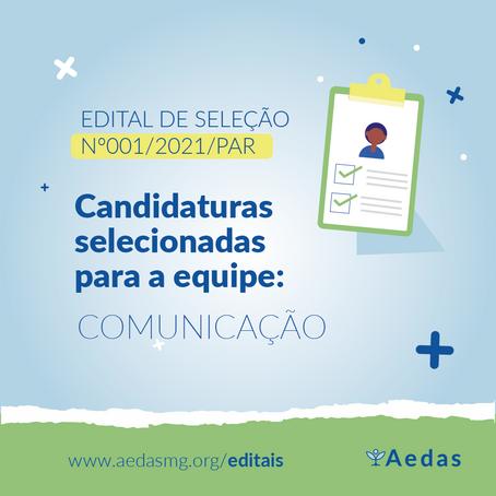 EDITAL Nº001/2021/PAR | LISTA DE RESULTADO PARA CADASTRAMENTO DE CURRÍCULOS DA EQUIPE DE COMUNICAÇÃO