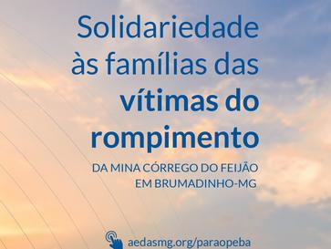 Nota de Solidariedade às famílias das vítimas do rompimento