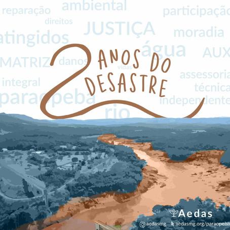 2 anos do desastre | Aedas publica série sobre danos e medidas emergenciais propostas por atingidos
