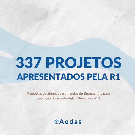Confira os 337 projetos enviados e construídos pelas comunidades atingidas de Brumadinho com a Aedas