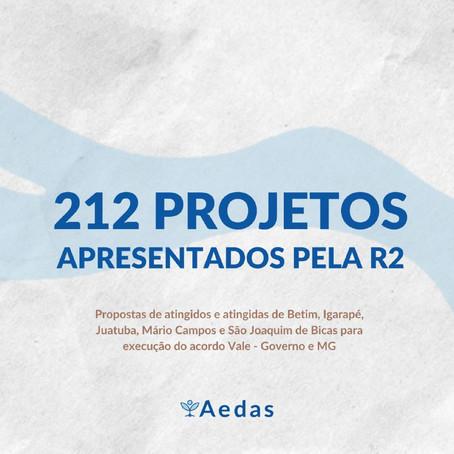 Confira os 212 projetos enviados e construídos pelas comunidades atingidas da Região 2 com a Aedas