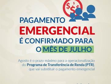 Pagamento emergencial é confirmado para o mês de julho