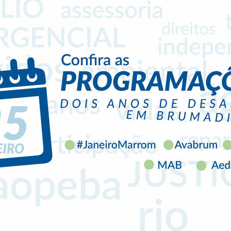 Organizações se articulam para os 2 anos do desastre em Brumadinho; confira programações