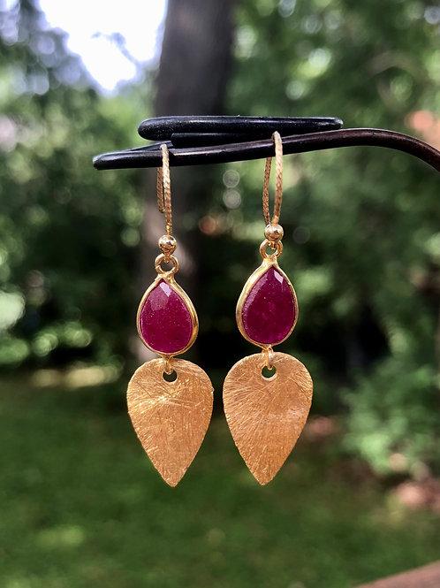 Ruby Teardrop Earrings