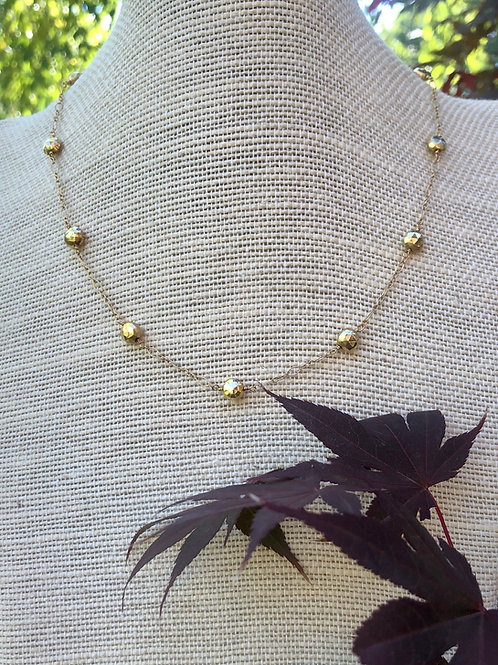 Gold Pyrite Coin Necklace
