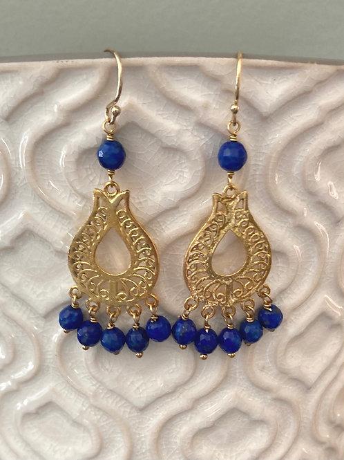 Lapis and Vermeil Earrings