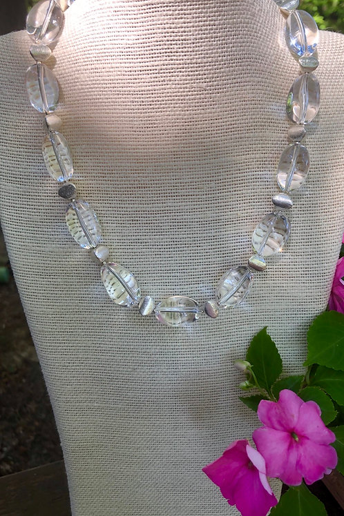 Crystal Quartz Statement Necklace
