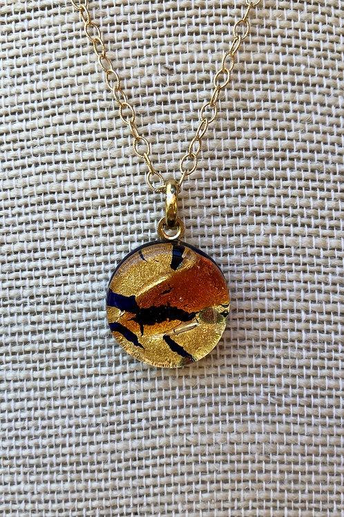 Unique Glass Pendant Necklace