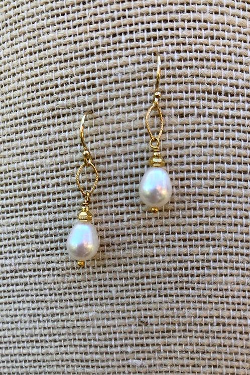 Freshwater Teardrop Pearl Earrings