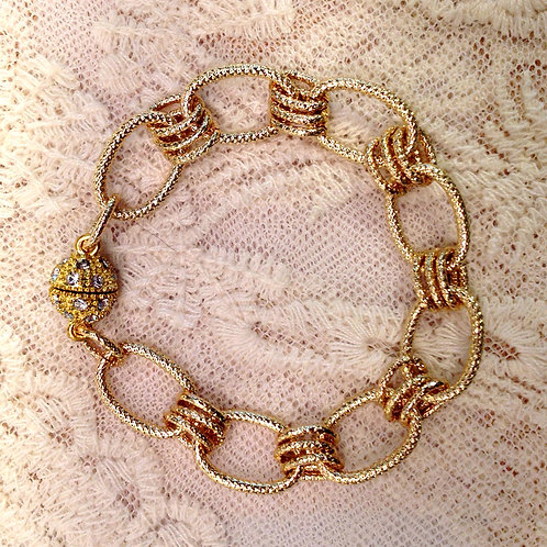 Gold Chain with Crystal Clasp