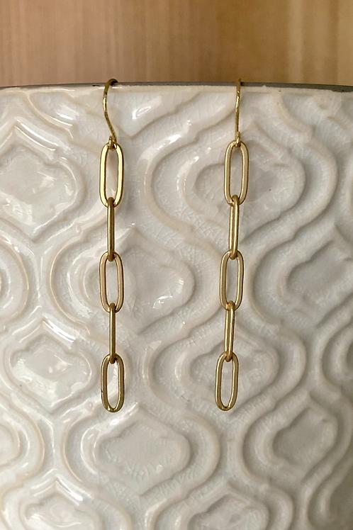 Paper Clip Chain Earrings