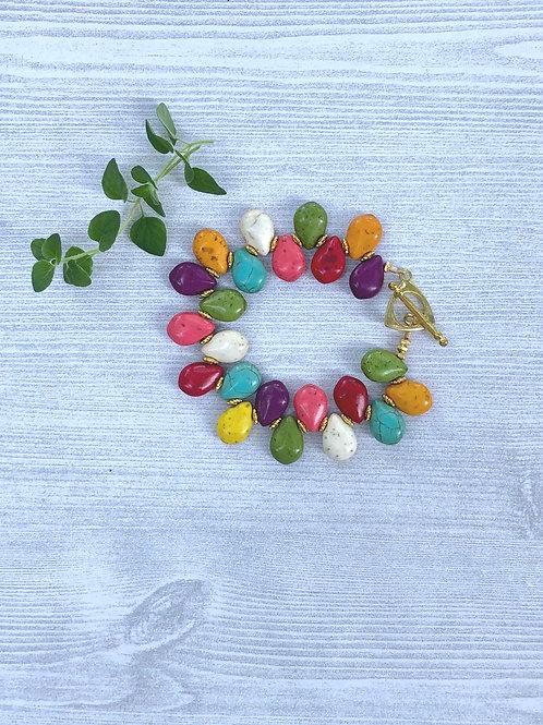 Colorful Teardrop Bracelet