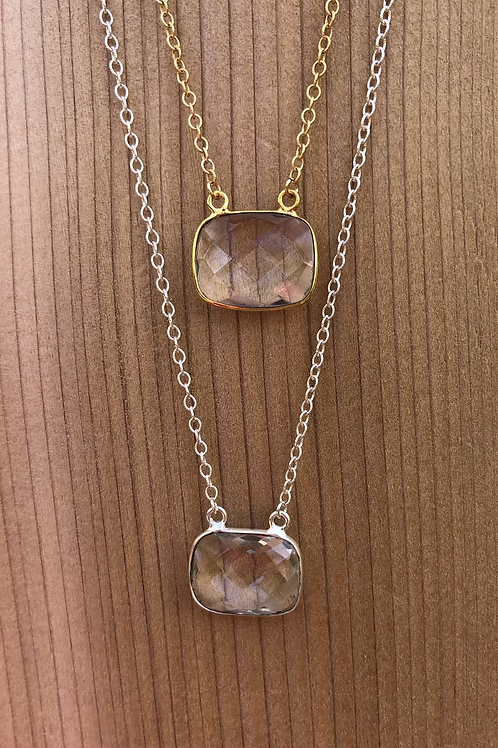 Simple Crystal Quartz Necklace
