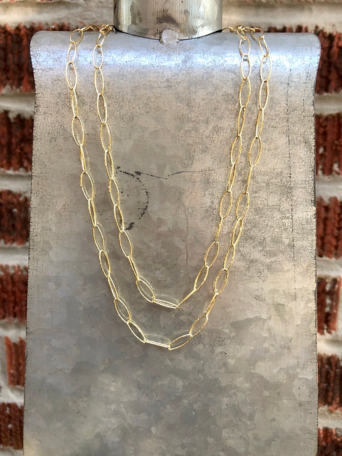Gold Paperclip Chains