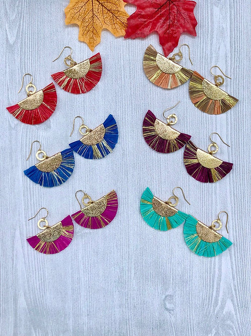 Fun Fall Rafia Earrings