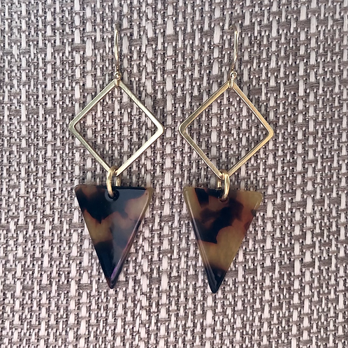 Geometric Tortoise Earrings