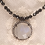 Thumbnail: Moonstone pendant on pyrite beaded necklace