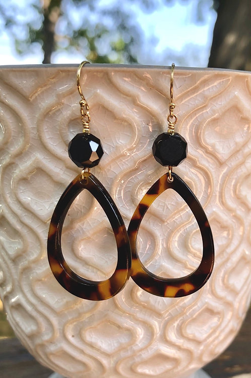 Tortoise Drop Earrings