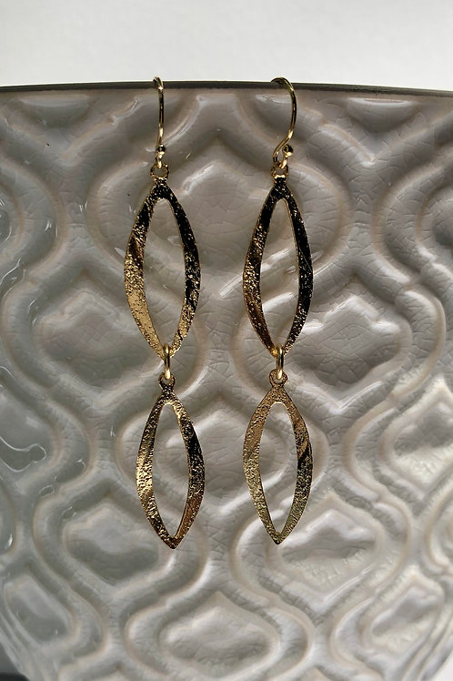 Marquis Gold Link Earrings