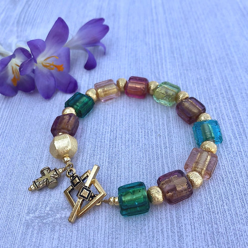 Venetian Glass Rosary Bracelet