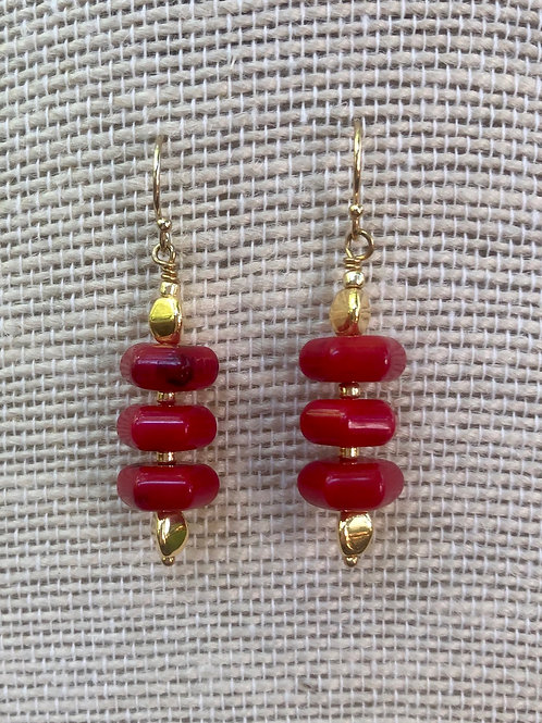 Coral Stack Earrings