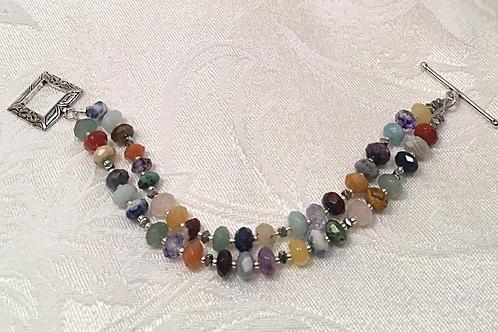 Fall Colors Multi-gemstone Bracelet
