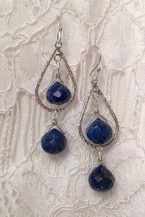 Faceted Lapis Lazuli DropEarrings
