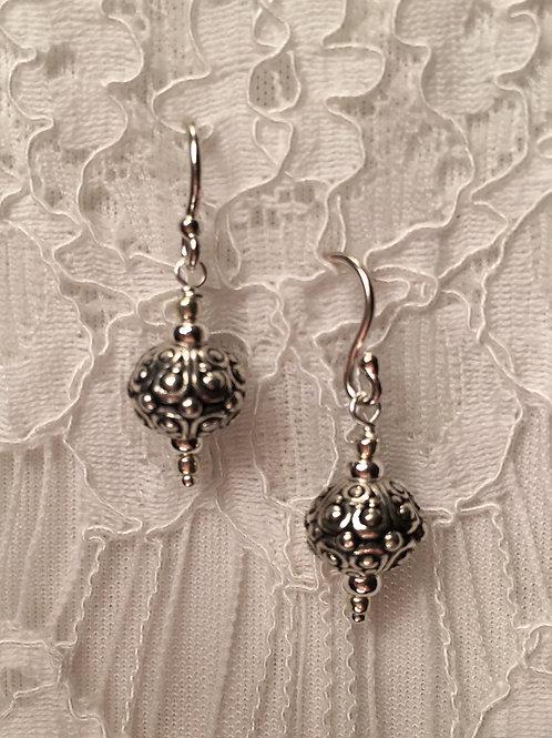 Pewter Antique Drop Earrings