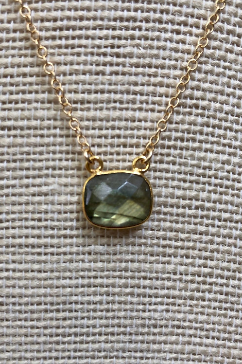Labradorite Pendant Simple Necklace