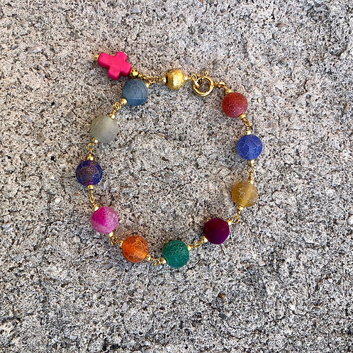 Colorful Rosary Bracelet