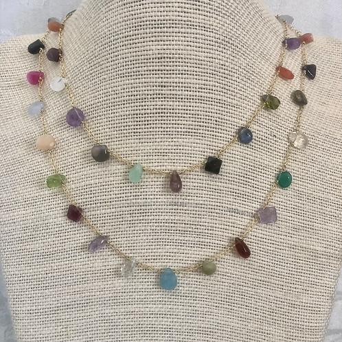 Colorful Versatile Gemstone Necklace