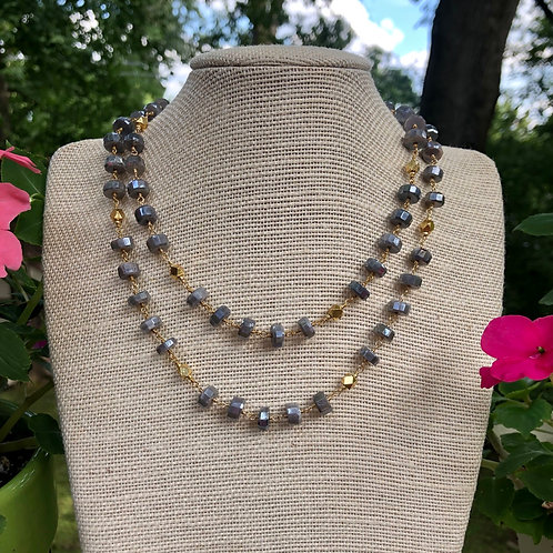 Labradorite and Gold Necklace