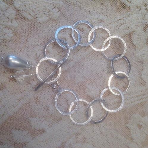 Sliver Plated Charmed Bracelet