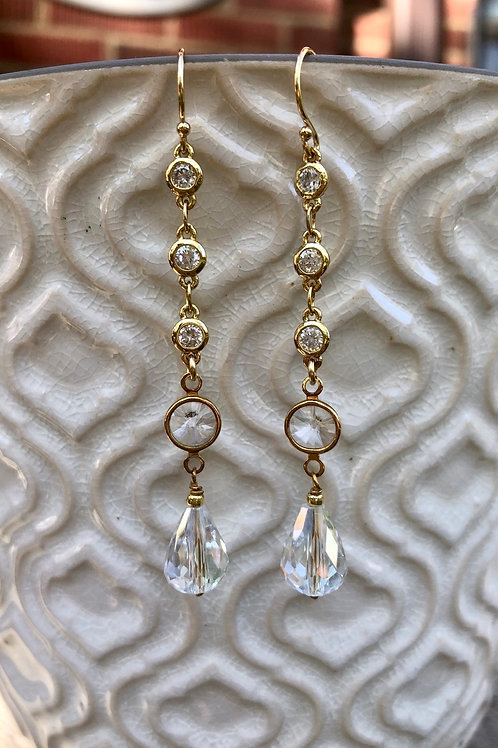 Crystal and CZ Earrings