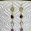 Thumbnail: Bezeled Gemstone Drop Earrings