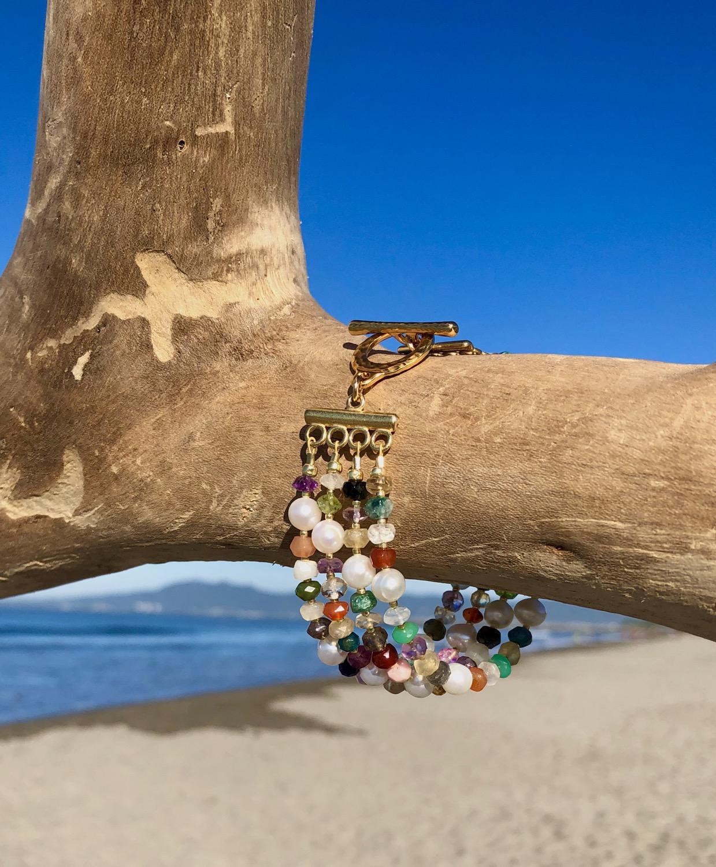 Thumbnail: Mixed Gemstones and Pearl Bracelet