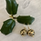 Thumbnail: Antique Gold Globe Earrings