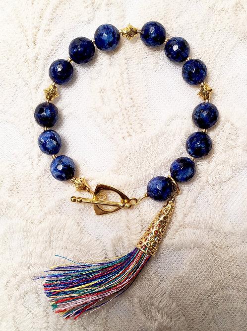 Navy Blue Tassel Bracelet