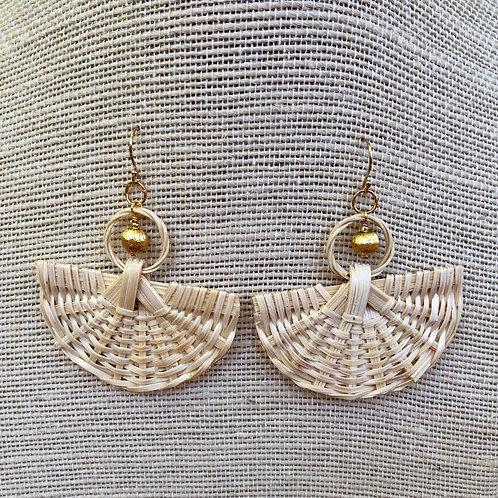 Natural Rattan Earrings