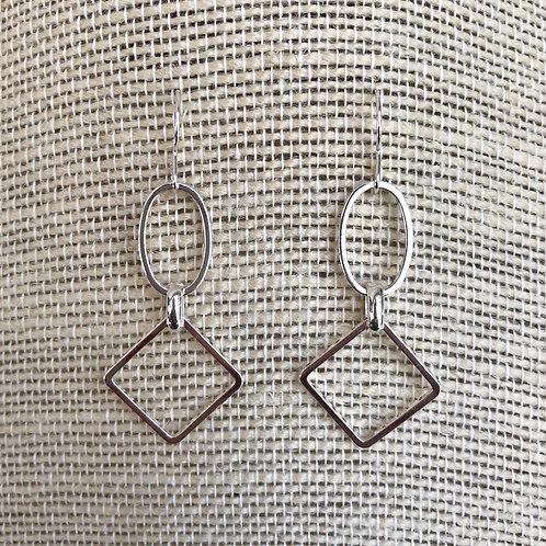 Geometric Silver Earrings