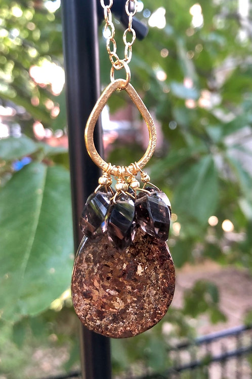 Bronzite and Smoky Quartz Necklace