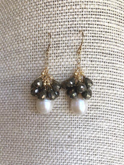 Cascading Pyrite Earrings