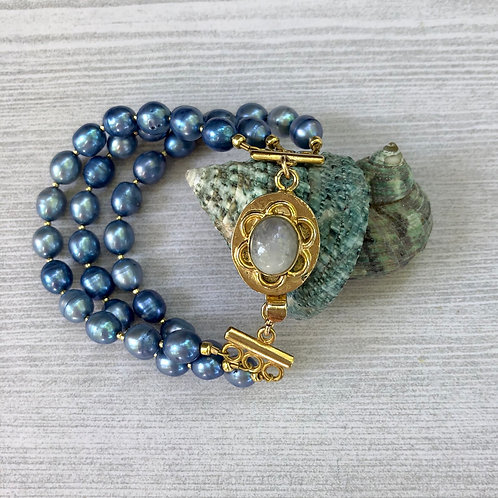 Pearl and Moonstone Bracelet