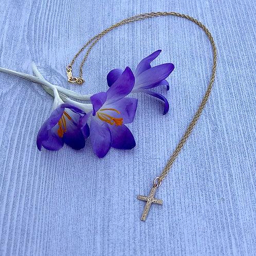 Petite Gold Cross