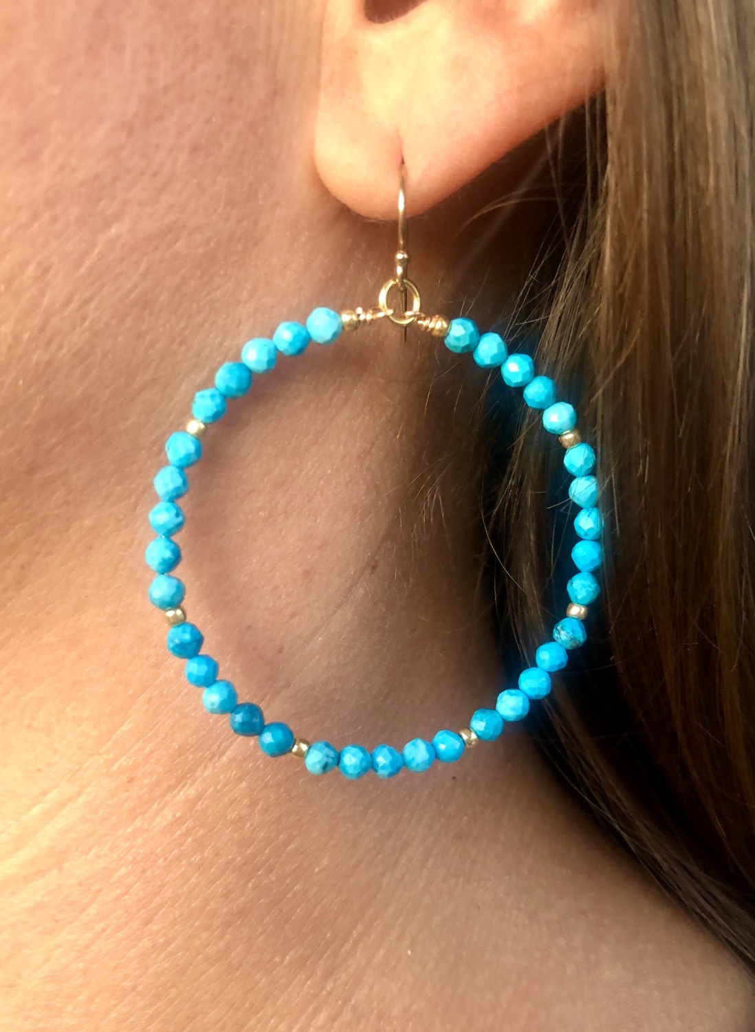 Thumbnail: Turquoise Hoops